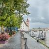 Riverboat Dock in Regensburg