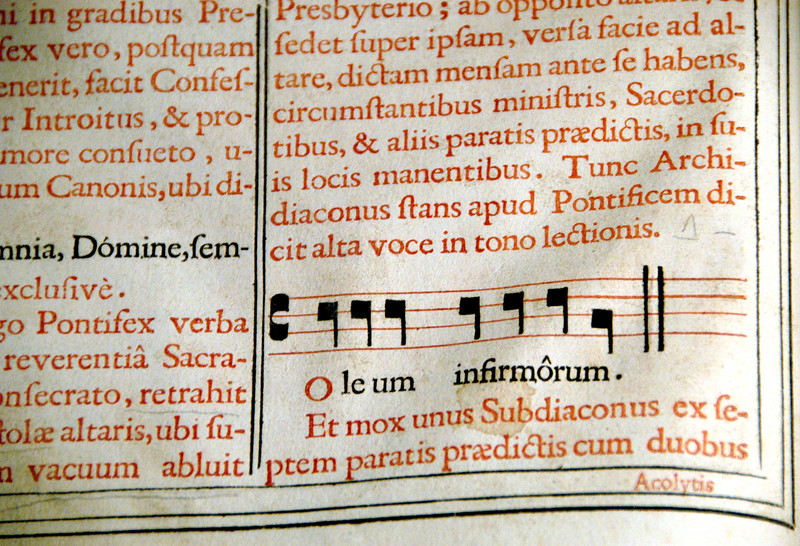 Hungary, Pecs, St. Peter & Paul Cathedral (11th-12th century) Ancient manuscript (missal)