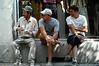 Bulgaria, Vidin, Construction workers taking a break