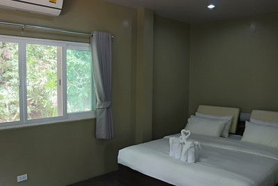 Loris Two Bedroom Seafront Villa bedroom, East Coast, Ko Lanta