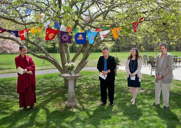 Service of Illumination and Transformation at The Villa Marie Claire in Saddle River, NJ. On hand to speak that day was Jane Ellis, Jean A. Leone, Claudia Coenen, Lama Pema Wangdak, Imam Mohammed Charas, Sr. Regina O,Connell, and Rabbi Amy Bolton. <br /> 4/18/12  Photo by Jeff Rhode/Holy Name Medical Center