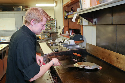 Steven Day, owner/chef at The Village Cafe and Bistro.  Photo by John Fitts