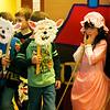 HOLLY PELCZYNSKI - BENNINGTON BANNER Kindergartner Penny Lamson, play little bo-peep during a Mother Goose Nursery rhyme play on Friday morning at the Village School of North Bennington.