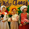 HOLLY PELCZYNSKI - BENNINGTON BANNER Dreaming of warmer days to come. Kindergartners Ellie Nelson, Morgan McGean, and Katalina Rich, of The Village School of North Bennington sing some nursery rhymes during a Mother Goose production on Friday morning.