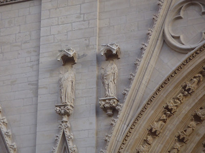 In 1562 Calvinists smashed the Cathedral facade in Lyon