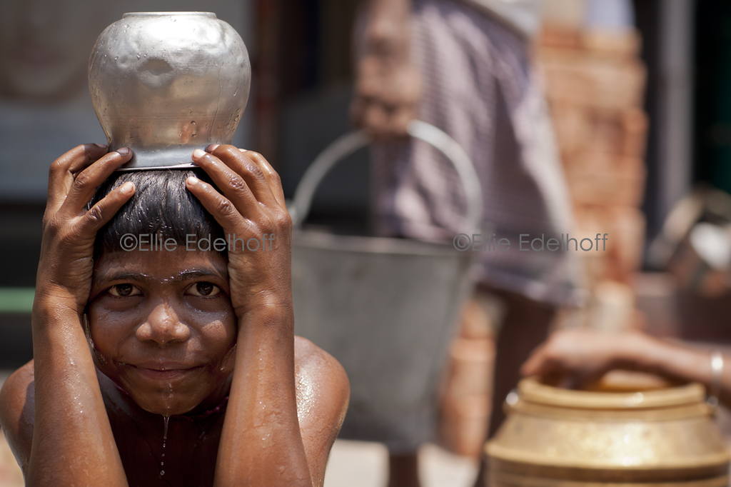 At the Water Pump - Kolkata, India