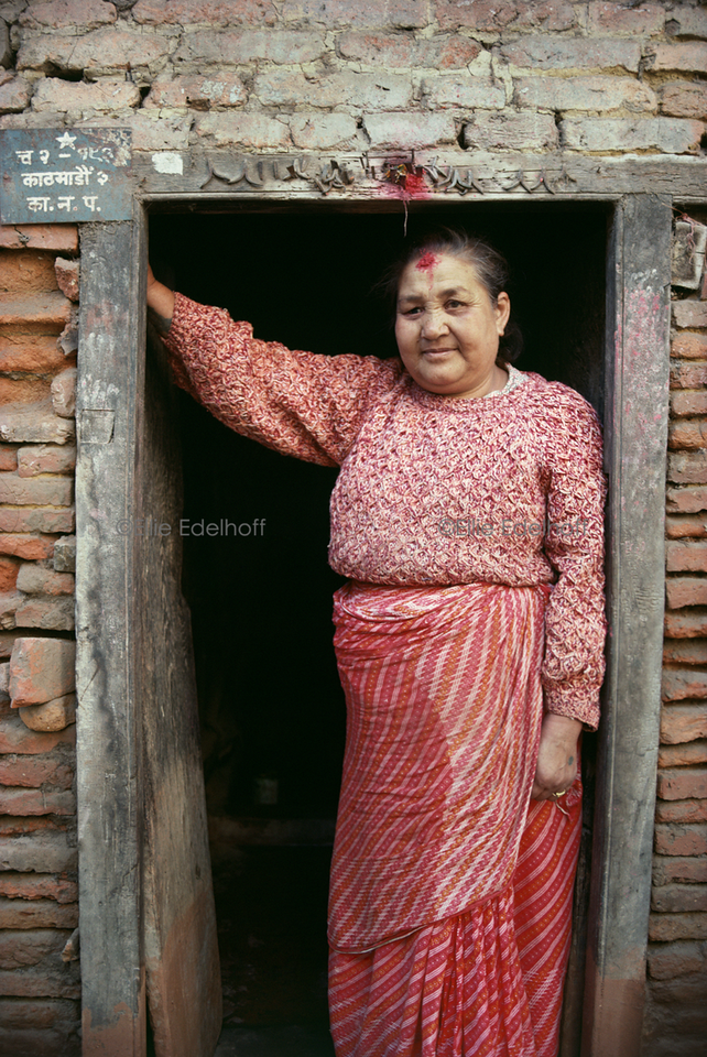 In a Kathmandu Doorway - Kathmandu, Nepal