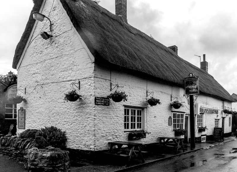 A wet day, The Old Cherry Tree, Great Houghton, Northamptonshire