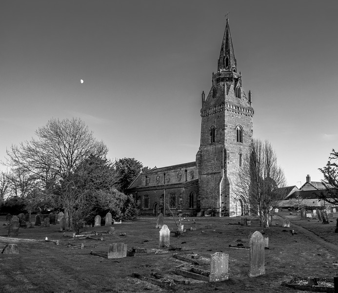 Moon, Church of Saint John the Baptist, Piddington, Northamptonshire
