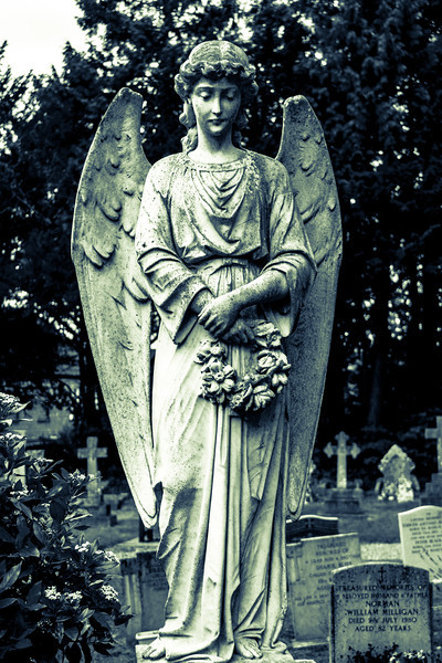 Weeping Angel, Church of  St Mary Magdalene,  Horton, Northamptonshire . DON'T BLINK!