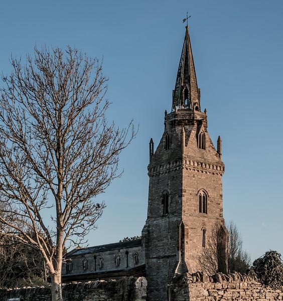 Moon, Church of Saint John the Baptist, Piddington, Northamptonshire in colour