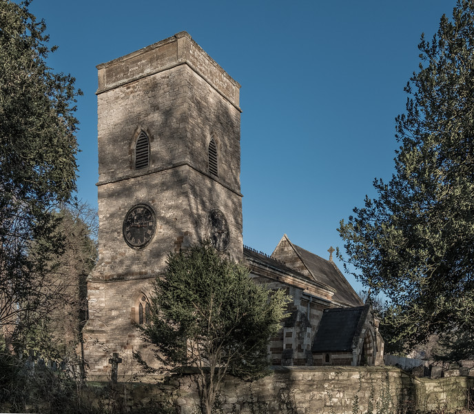 Tower, Church of Saint Mary Magdalene, Horton, Northamptonshire in colour