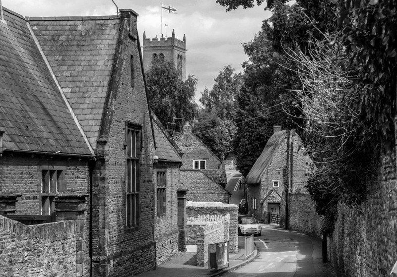 View of Church Hill, Moulton, Northamptonshire
