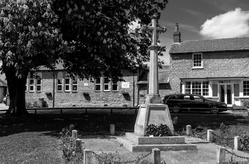War Memorial and school, Stoke Goldington