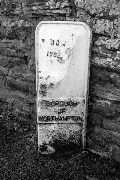 Boundary Marker, Church Way, Weston Favell,  Northampton