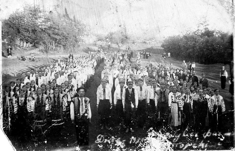 """1938. Торське.  Фестини в селі. Товариство """"Луг""""."""