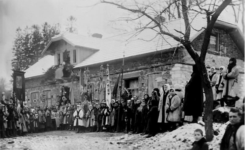"""Торське. 1933.  Перед посвяченням районної молочарні """"Маслосоюзу"""""""
