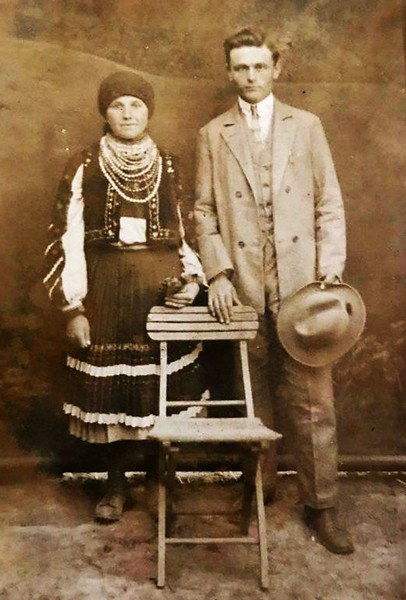 Торське. 1929.  Марія та Григорій Вагалюки