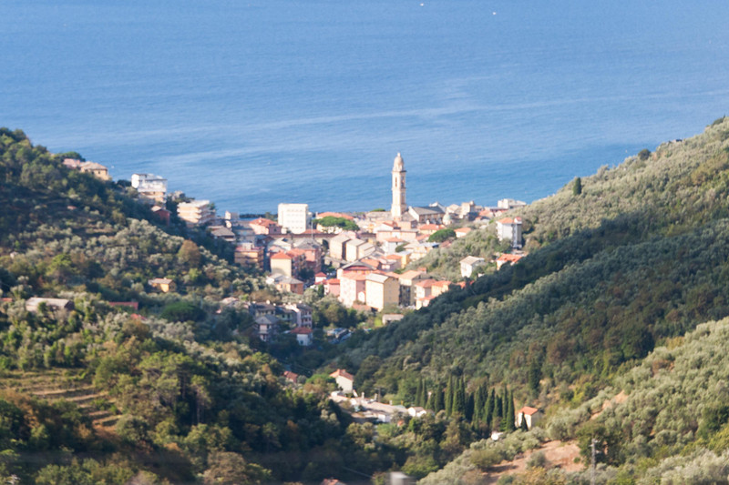 Leaving the Ligurian Sea and headed inland to the lake country.