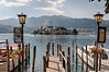 Lake Orta - Isola di San Giulio from the boat dock.