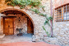 Our agroturimso hotel in rural Tuscany ... archway leading to our bedroom.