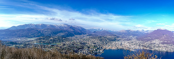 Lugano seen from Monte San Salvatore
