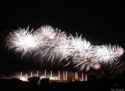 CARCASSONNE Feu d'artifice 14 juillet 2012