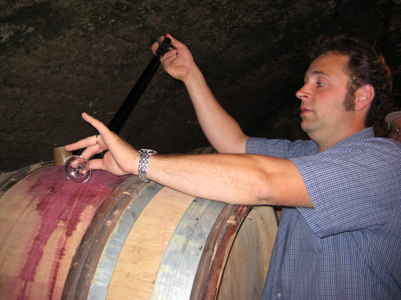 In the cellar at D'Angerville