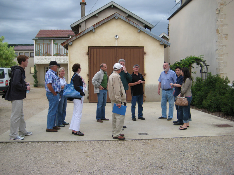 In front of Domaine Sylvain Cathiard