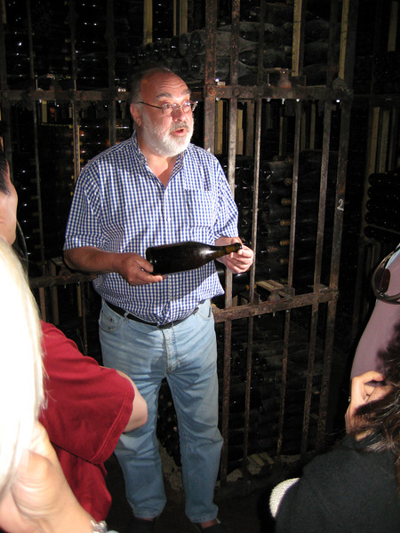 Clive with one of the world's oldest existing bottles of Burgundy