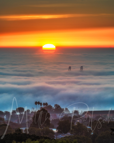Fog Sunrise in San Pedro, CA