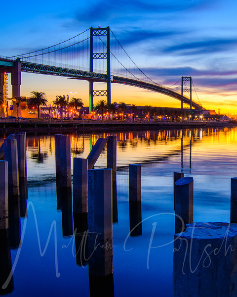 The Vincent Thomas Bridge in San Pedro, California - Pre Dawn - part of the timelapse in previous post.  Go check it out! And check out the full version on my website in the time lapse section.