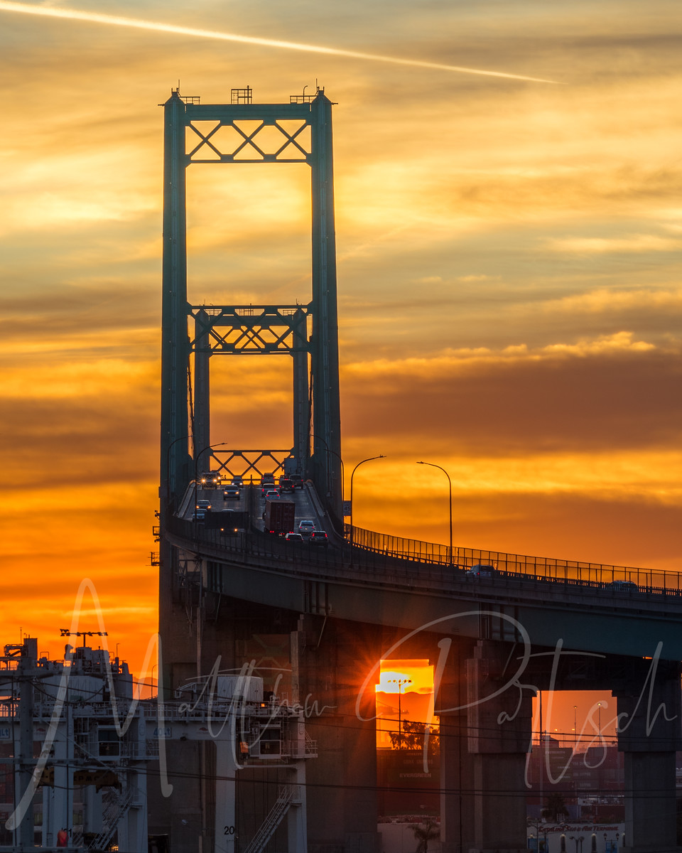 Sunrise at the vincent thomas bridge