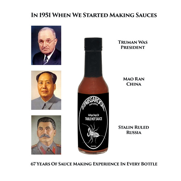 Vinegaroon Table Hot Sauce | A New American Classic