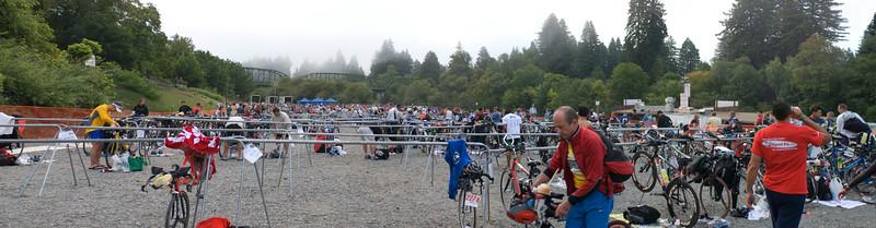 Swim to Bike Transition Area