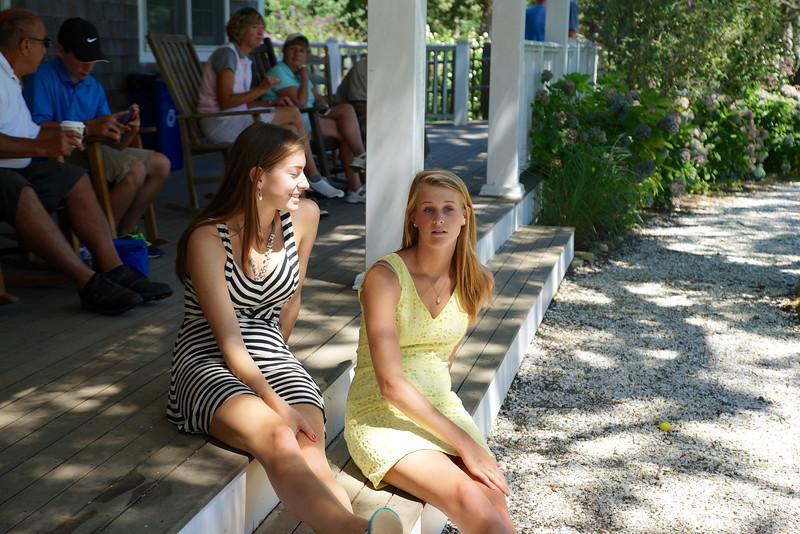 Dana and Kat waiting ....