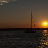 Sunset and Sailboats
