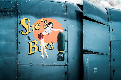 She's the Boss, Navy Avenger Pinup Girl Nose art