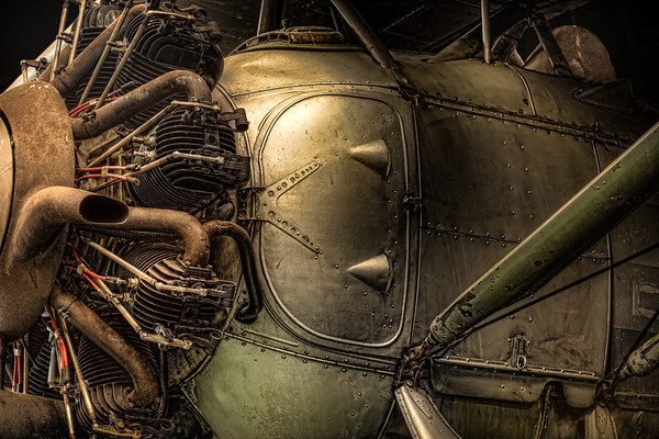 radial engine and fuselage detail