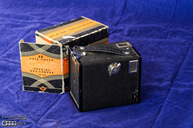 I found photos of this little camera (length = 4 in, width = 2.75, height = 3.5 in) but not a specific write-up. I did find a few posts for a later model, the Agfa B-2 Cadet.