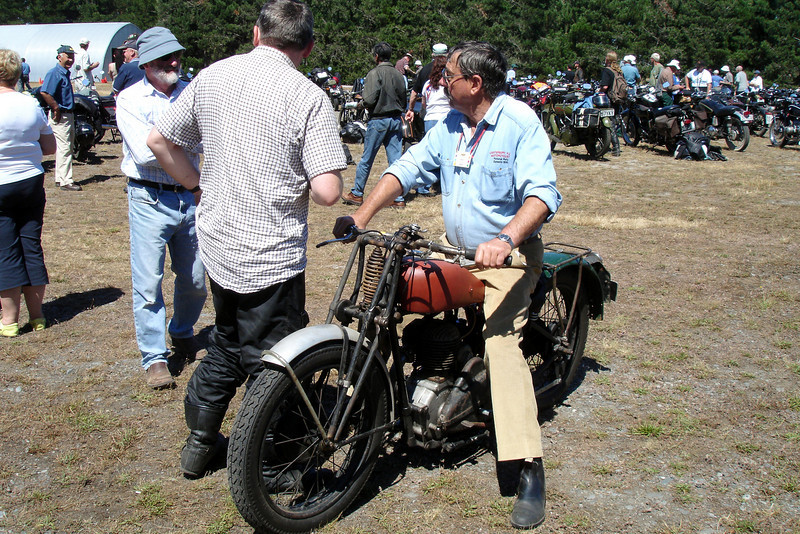 Pete on his Triumph CS - very similar to my 29 CSD