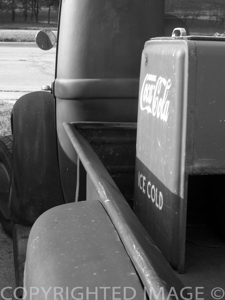 """Vintage Chrevolet truck & ice cold Coca Cola."""