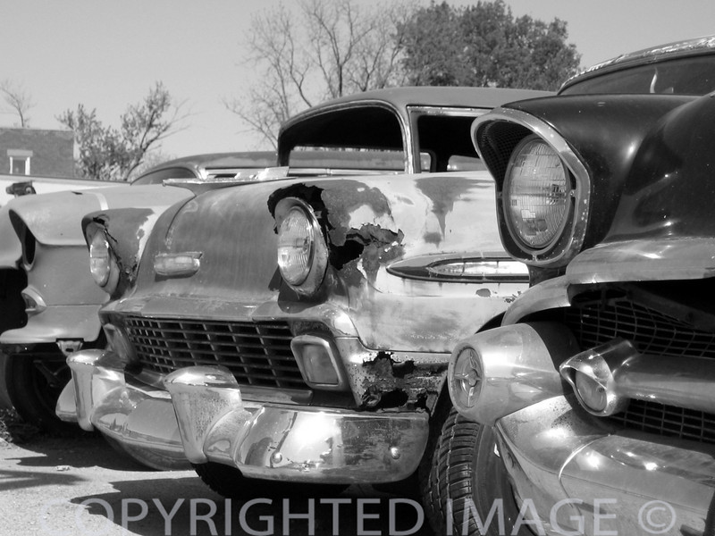 """Eyes Wide Open"" (Vintage Cars B & W)"