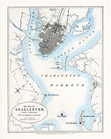 Vintage Charleston SC Harbor Charts