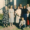 Thanksgiving 1957 - Wilson District, Yuba City CA<br /> Back - Alvin Clouse, ??, Tom Clouse, Frank Clouse<br /> Front - Wilmia Clouse, Gladys Clouse, Leah Clouse holding David, Billie Brewer.