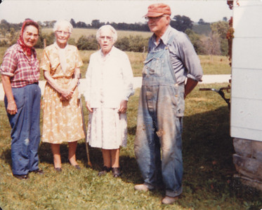 1981 - Mildred, Opal Kinkaid, Ida Sedwick & Hadley (husband of Mildred). Opal & Ida are two sisters of Emery Wild.