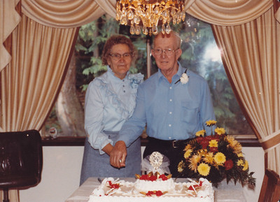 "1983 - 50th wedding Anniversary of Raymond ""Buck"" & Viva Cameron.  Buck is the brother of Mable Cameron Wild."