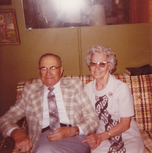 July 1981 - Otto & Leila Chamberlain.   They were neighbors of Mable & Emery Wild when they lived on the Oakdale property.