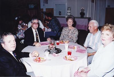 Ken Dodge, Glen Howard, Bonnie Gough, Charles Gough, LuAnne Dodge (Left to Right)