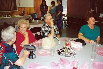 Zulie Clouse, Harriett Clouse, Wes Brewer, Billie Brewer (Left to Right)